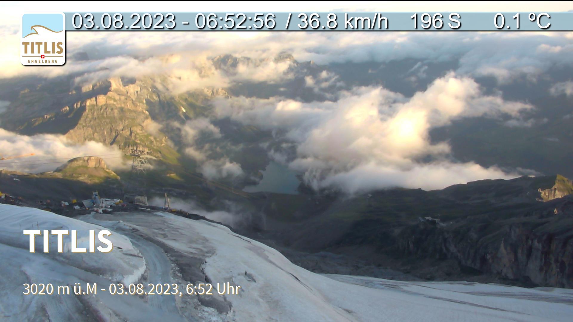 Paragliding Fluggebiet Europa Schweiz Obwalden,Titlis, alpiner Startplatz,Livecam  der Titlisbahn