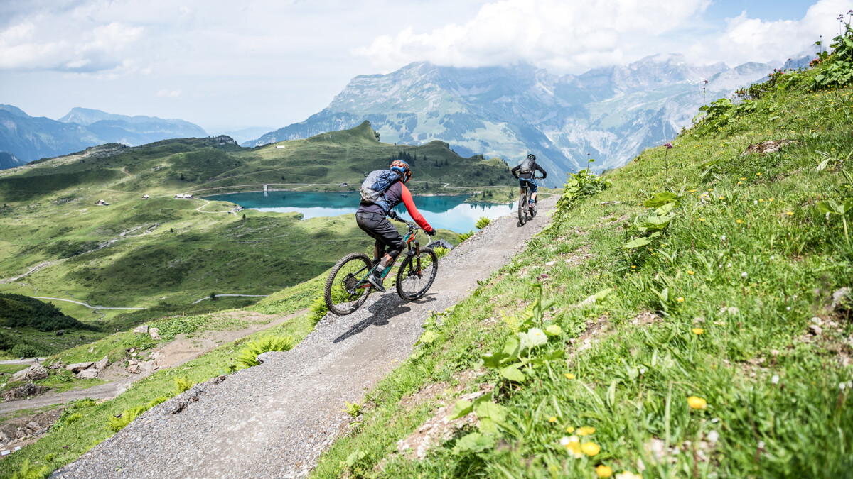 Klettersteig Jochpass : Bikegebiet biketouren sommerferien erlebnis titlis engelberg