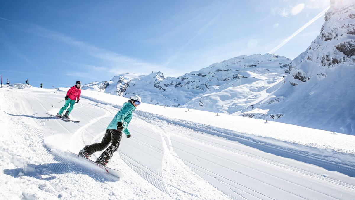 skiing, snow-sure ski area central switzerland, TITLIS Engelberg